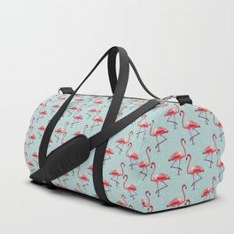 Flamingos in Cool Water Duffle Bag