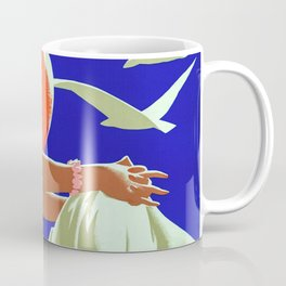 Great Lakes Vintage Travel Poster Coffee Mug