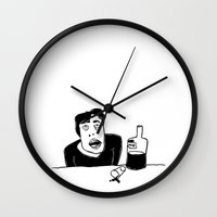 vodka Wall Clocks featuring Vodka by Ehud Neuhaus
