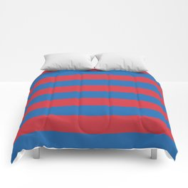 warm red and blue stripes Comforters