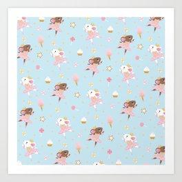 Sugar Plum Fairies Pattern Art Print