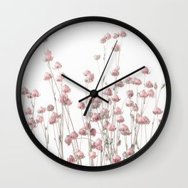Pink Linum Wall Clock