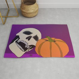 Skull Next to the Pumpkin Rug