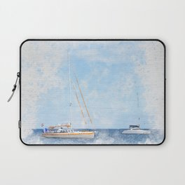 Sail boats on a calm sea Laptop Sleeve