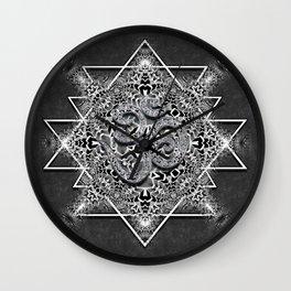OM Geometry Black White Tribal Wall Clock