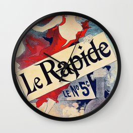 Jules Cheret - Le Rapide - Digital Remastered Edition Wall Clock