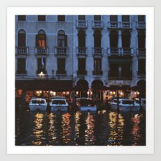 Night by the river Art Print