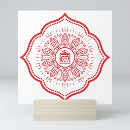 Root Chakra Mandala #04 Mini Art Print