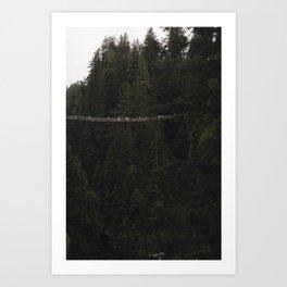 Capilano Suspension Bridge, Vancouver Canada Art Print