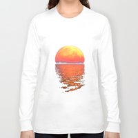 moonrise Long Sleeve T-shirts featuring Moonrise by Tobias Bowman