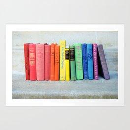 Rainbow Vintage Books Art Print