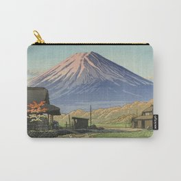 Fujisan Seen From Funatsu - Vintage Japanese Woodblock Print Art Carry-All Pouch