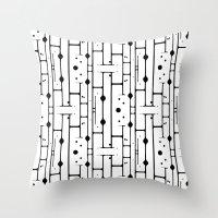 birch Throw Pillows featuring Birch by Cosmos Creative