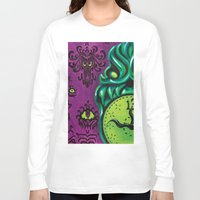 """haunted mansion Long Sleeve T-shirts featuring Disneyland Haunted Mansion inspired """"Wall-To-Wall Creeps No.3""""  by ArtisticAtrocities"""