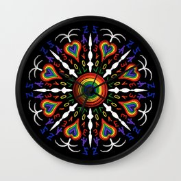 Amor sin condiciones de la A a la Z (Love without condition from A to Z) Wall Clock