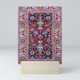 Romanian  Antique  Double Niche Carpet Print Mini Art Print