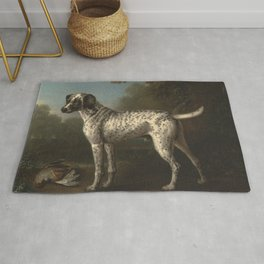 A Grey Spotted Hound by John Wootton Rug
