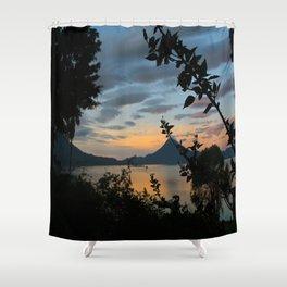Lago Atitlan at Sunrise Shower Curtain