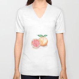 Watercolour Grapefruit Unisex V-Neck