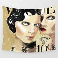 vogue Wall Tapestries featuring VOGUE I by Irene D'Anto'