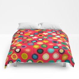 red pop spot Comforters