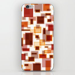 Red Abstract Rectangles iPhone Skin