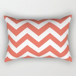 Fire opal - pink color -  Zigzag Chevron Pattern Rectangular Pillow