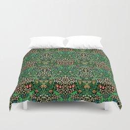 William Morris Jacobean Floral, Black Background Bettbezug