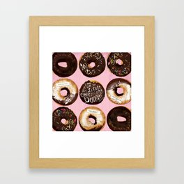 The Little Chocolate Donuts Framed Art Print