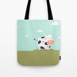 Happy fat cow Tote Bag