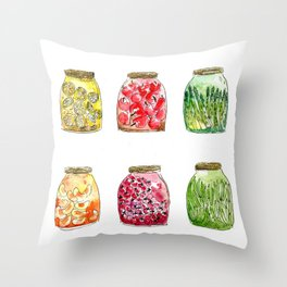 Getting Canned Never Looked So Good Throw Pillow