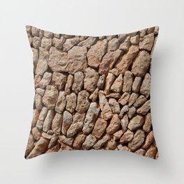 Stone wall background Throw Pillow