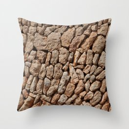 Stone wall background Throw Pillow