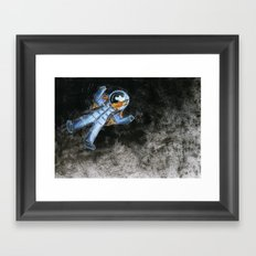 Snail in space Framed Art Print