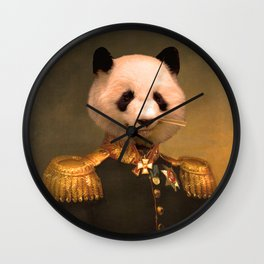 Panda Bear General | Cute Kawaii Wall Clock
