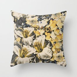 White Shephard Lily Throw Pillow