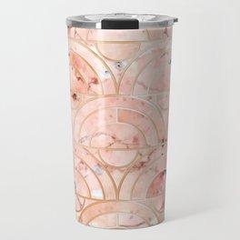 Peachy Marble (foor) Travel Mug