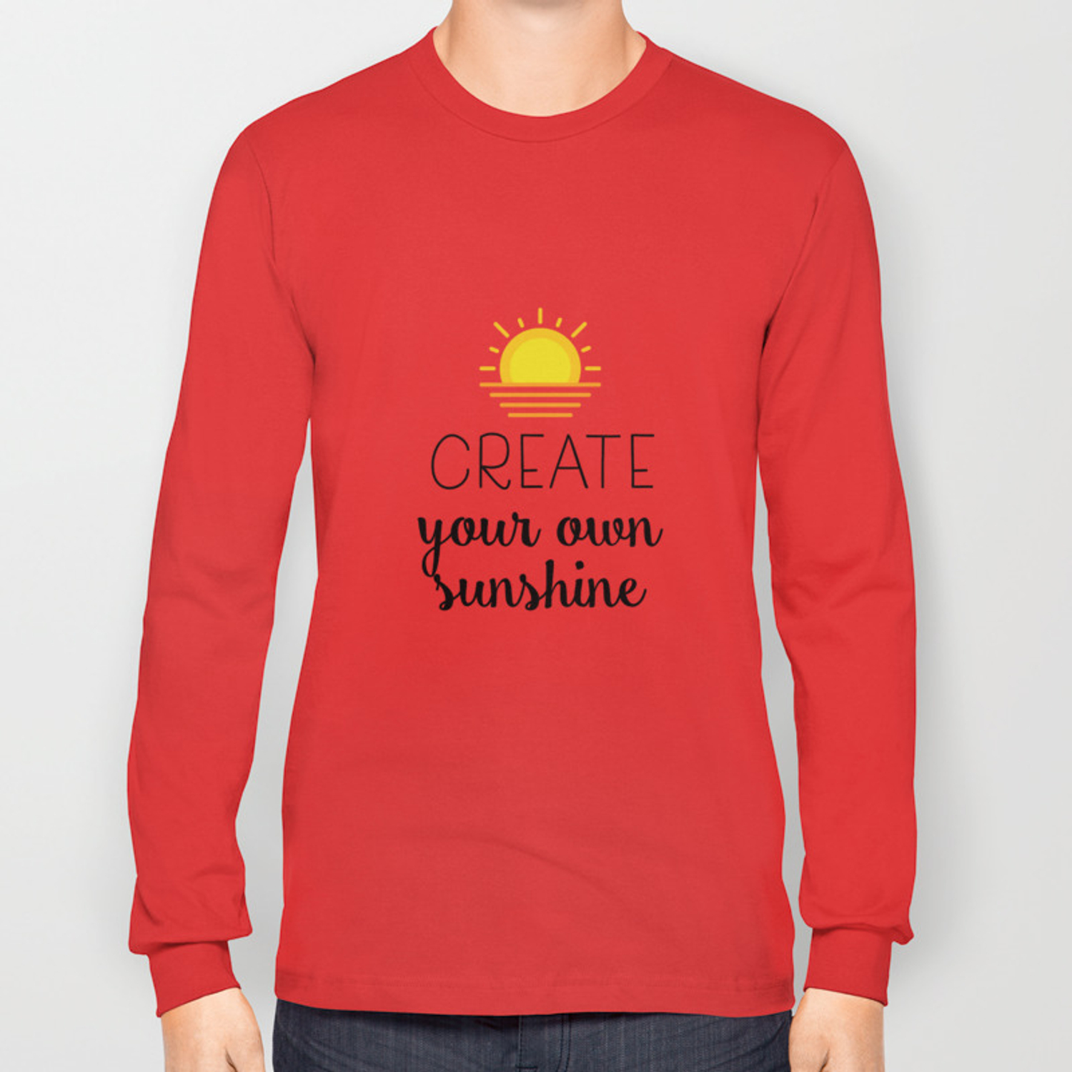 257a7fec0 Create your own sunshine Long Sleeve T-shirt by catmustache | Society6