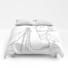 Ian Curtis WordsPortrait Comforters