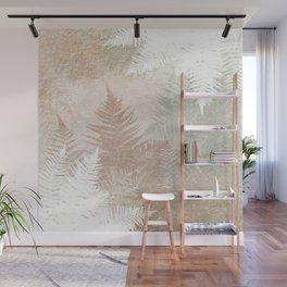 Fern Snowflakes - Golden, bronze & Sage Wall Mural