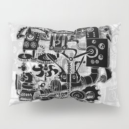 Hungry Gears (negative) Pillow Sham