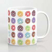 doughnut Mugs featuring Doughnut delights by Phibbit