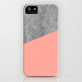 Simply Concrete Dogwood Pink iPhone Case
