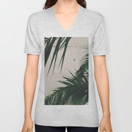 Tropical Palm Leaves Unisex V-Neck
