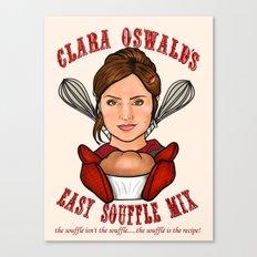 Clara Oswald's Easy Souffle Mix Canvas Print