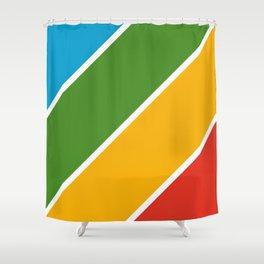 Colorful Diagonal Stripes Shower Curtain