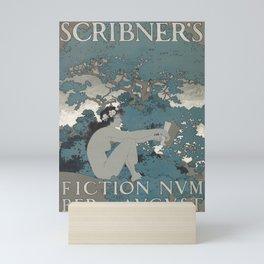 cartel scribners fiction number. august. 1897 Mini Art Print