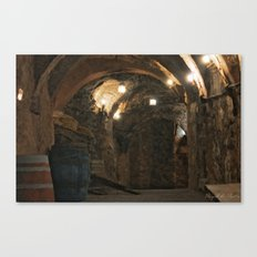 In the wine caves Canvas Print