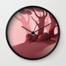 Red (BG Only) Wall Clock