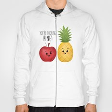You're Looking Pine! Apple & Pineapple Couple Hoody